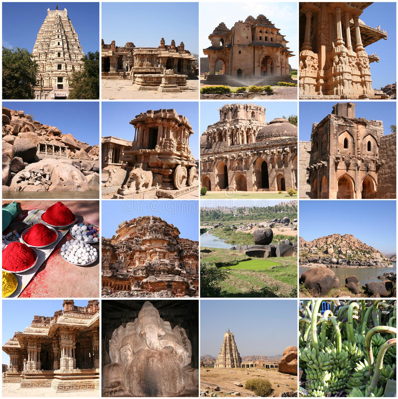 Hampi, Karnataka, Inde photos stock