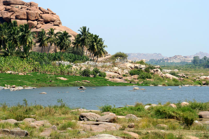 Download Hampi landscape stock photo. Image of green, asia, flowing - 24540392
