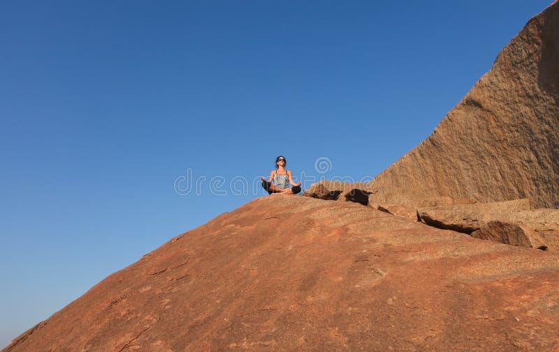 Download Hampi meditation stock image. Image of adult, people - 23326729