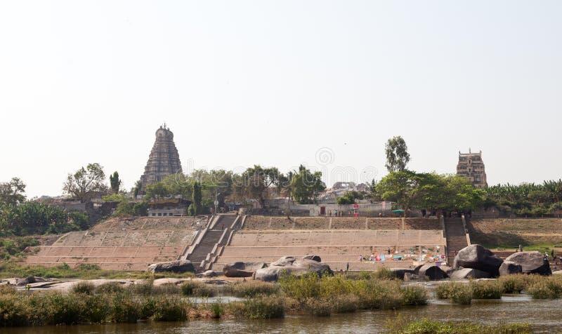 Hampi, the ruins of Hindu temples stock image