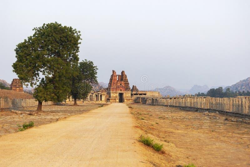 Hampi at sunrise, Vittala temple, Hampi, Karnataka, India. View of Vittala temple at Hampi, Karnataka state of India stock photography