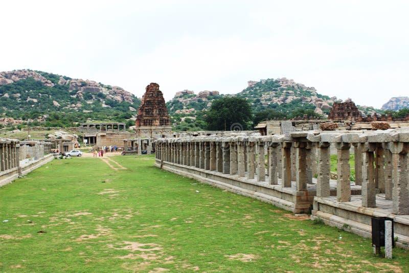 Hampi vittala temple. The outer view of vittala temple at hampi royalty free stock image