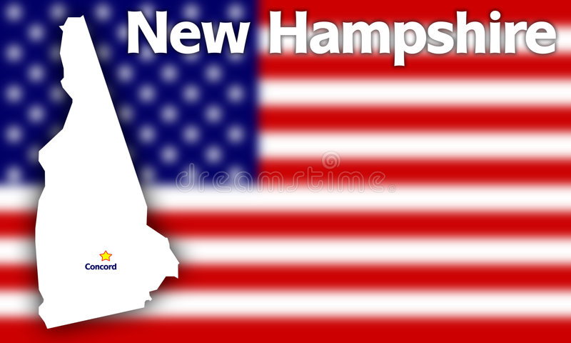 Hampshire konturowy nowy stan ilustracja wektor