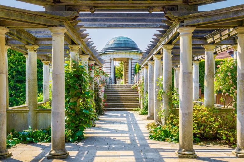Hampstead Pergola and Hill Garden stock photos