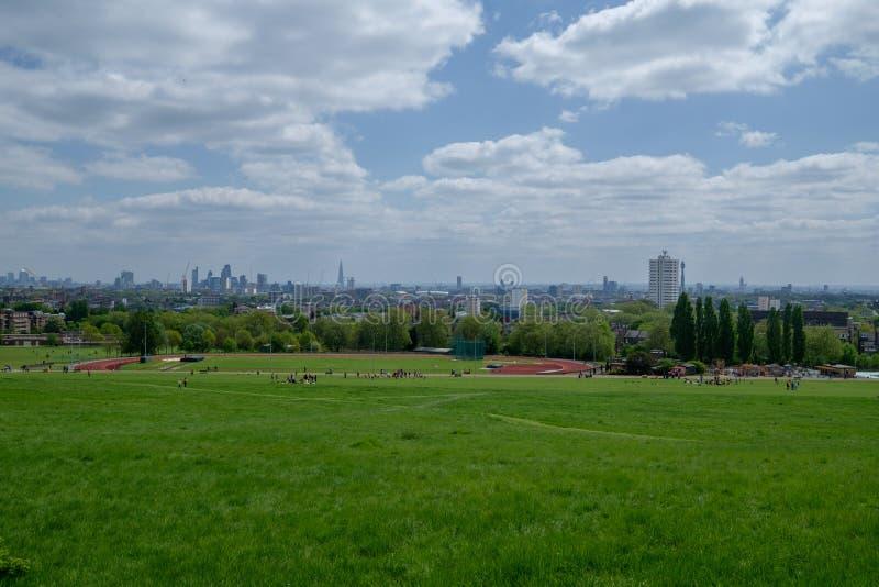 Hampstead wrzosowiska park fotografia royalty free