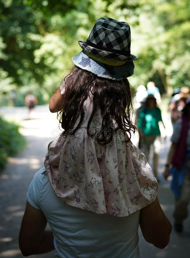 Hampstead wrzosowiska parka dziewczyna obraz royalty free