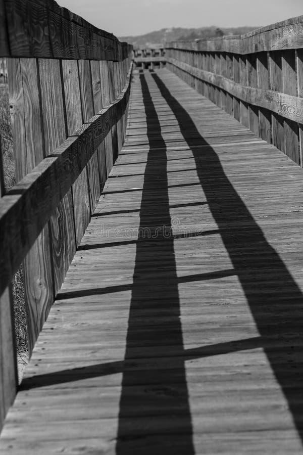 Hampton Boardwalk del sur fotografía de archivo
