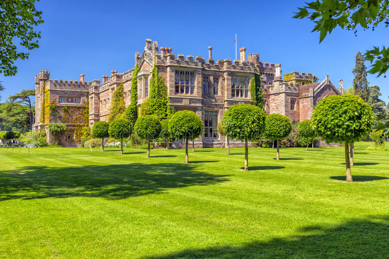 Hampton Court Castle, Herefordshire, Engeland royalty-vrije stock foto