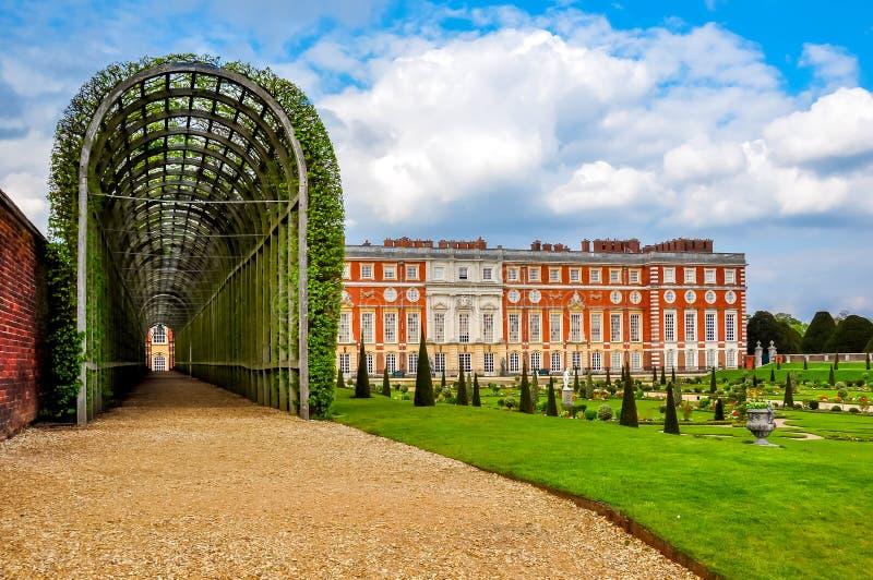 Hampton Court pałac, Londyn, Zjednoczone Królestwo obraz stock