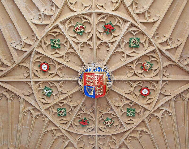 Hampton Court Palace -. Hampton Court Palace ceiling details stock photography