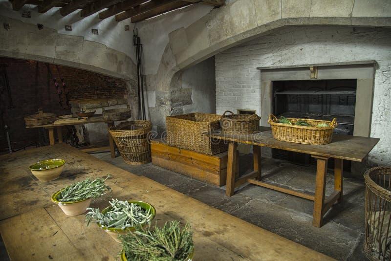 Hampton Court Palace, cocina real foto de archivo