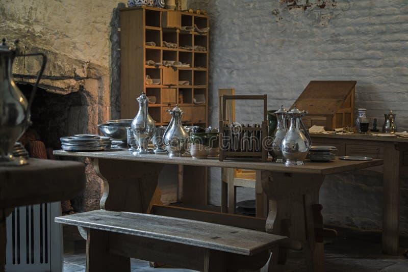 Hampton Court Palace, cocina real imagen de archivo