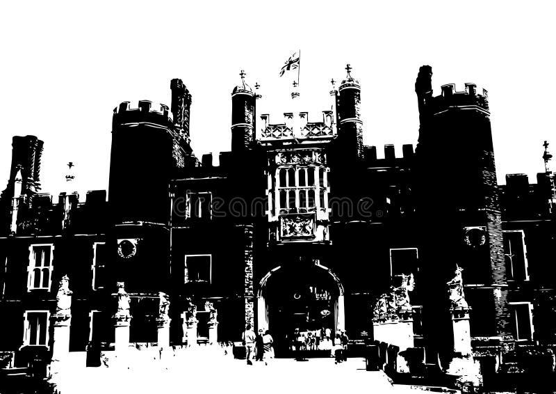 Hampton Court Palace stock illustration