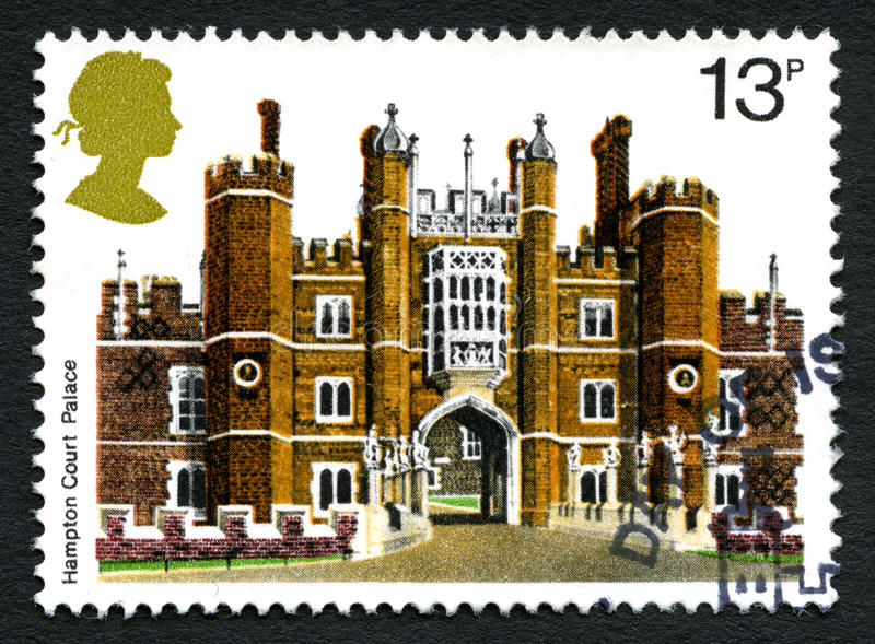 Hampton Court Palace UK Postage Stamp royalty free stock photos