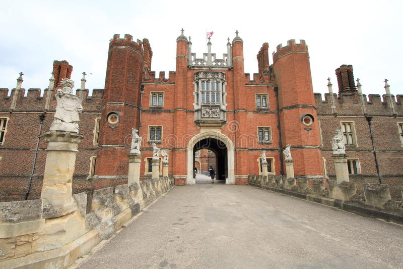 Hampton Court Palace van Engeland stock afbeelding