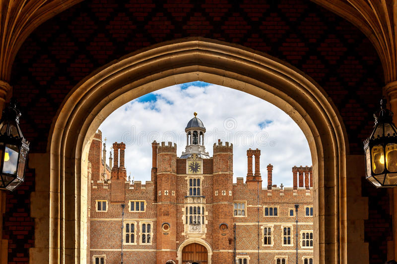 Hampton Court in summer day. UK stock photography