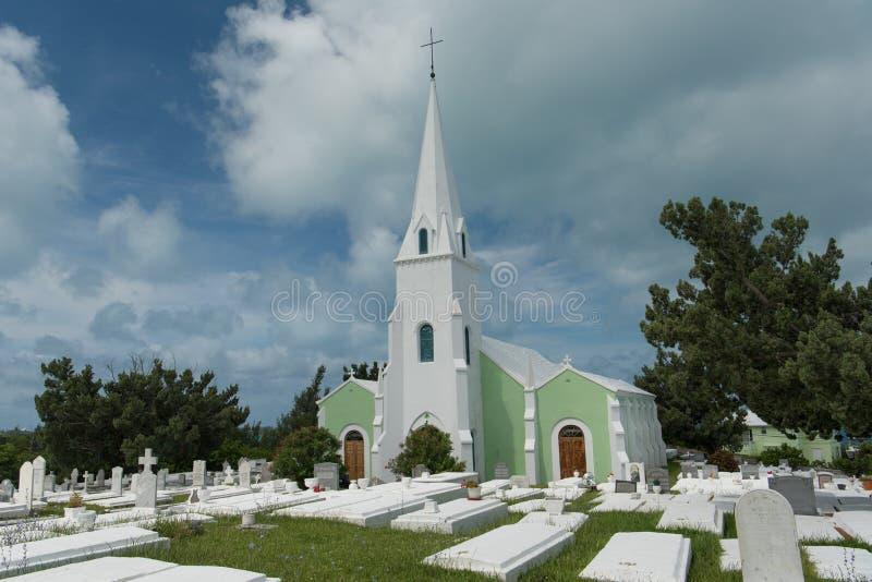 Hampton del sud, Bermude, il 27 giugno 2018 - chiesa locale sull'isola delle Bermude immagine stock libera da diritti