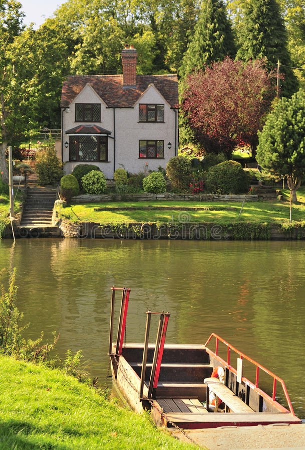 Hampton-Flussfähre, Avon, Evesham stockbilder
