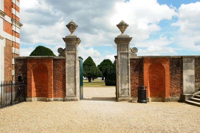 Hampton garden gate royalty free stock photography
