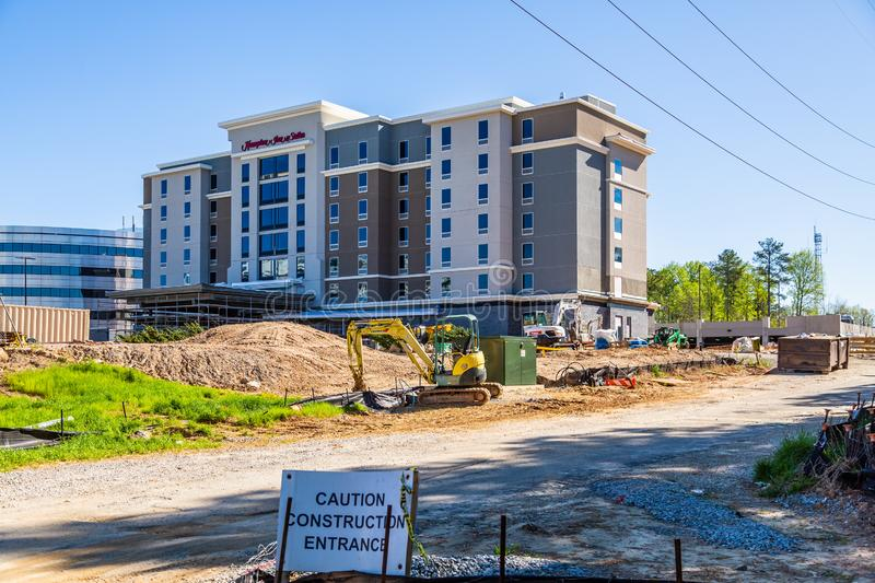 Hampton Inn Under Construction stockbilder