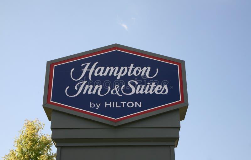 Hampton Inn y habitaciones imagen de archivo
