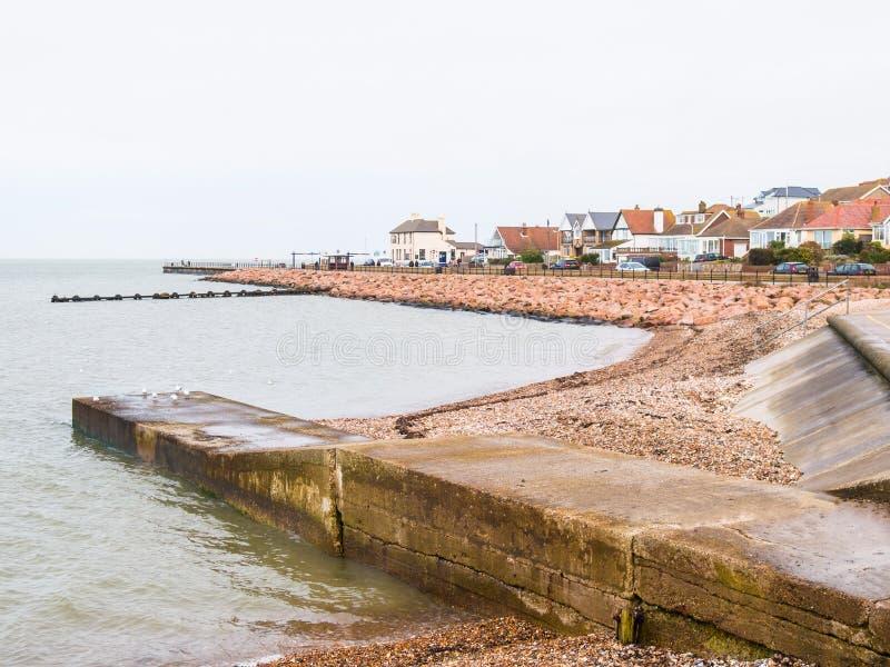 Hampton Pier, Herne-Bucht, nahe Whitstable, Kent, Großbritannien lizenzfreies stockbild
