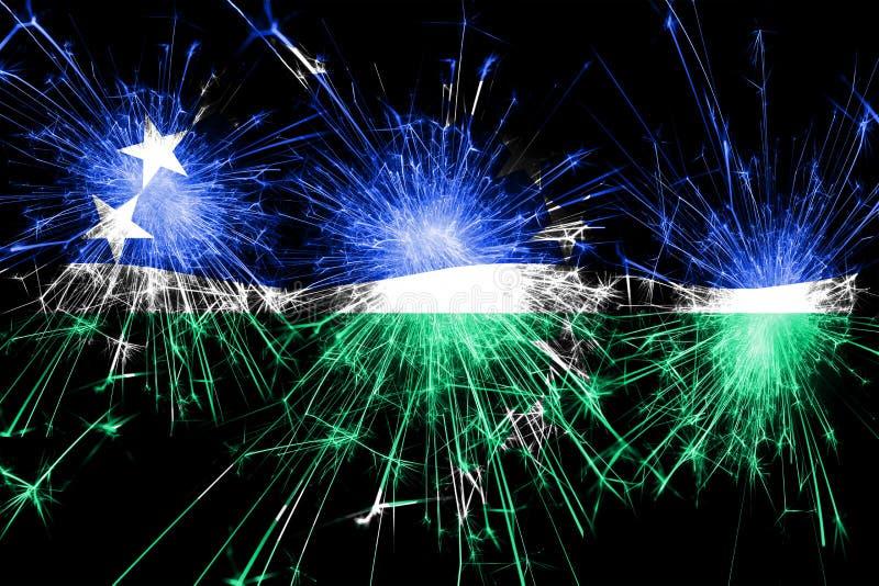Hampton Roads, funkelnde Flagge Virginia-Feuerwerke Konzept des neuen Jahres, des Weihnachten und des Nationaltags Staaten von Am lizenzfreie abbildung