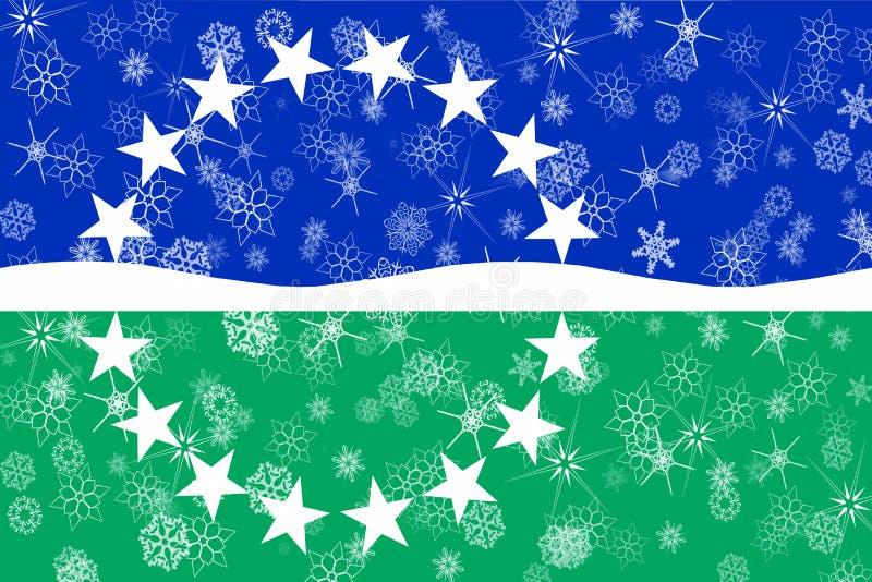 Hampton Roads, Virginia-Winterschneeflocken-Flaggenhintergrund Staaten von Amerika stock abbildung