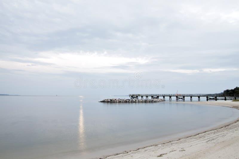 Hampton Virginia Waterfront Pier e spiaggia fotografia stock libera da diritti