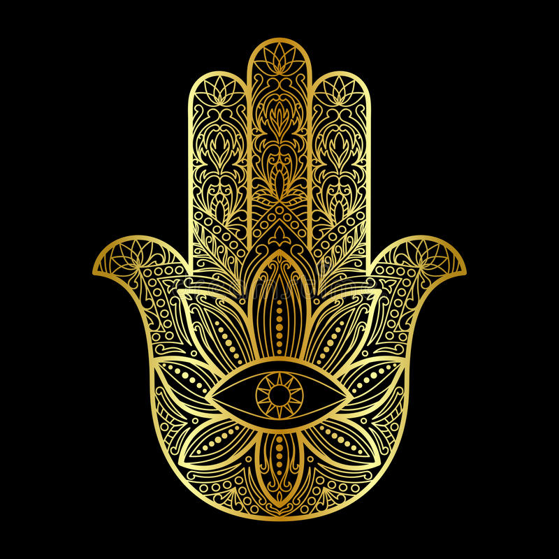 hamsa hand of fatima amulet stock vector illustration of ethnic drawing 80243895. Black Bedroom Furniture Sets. Home Design Ideas