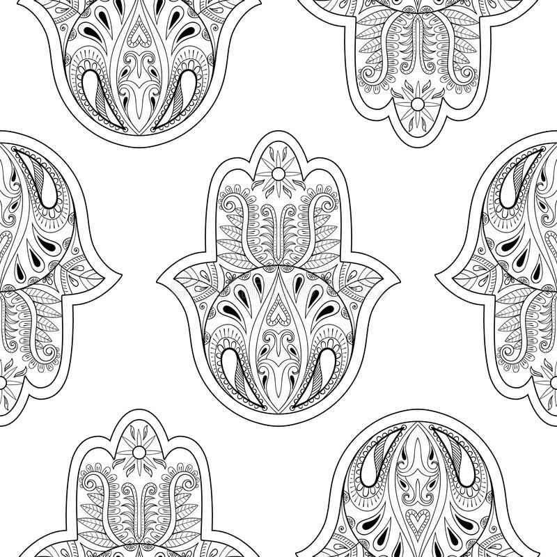 Hand-drawn Seamless Pattern With Lotus In East Style Stock ...