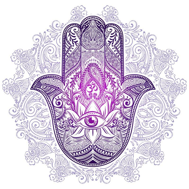 Hamsa-Hand von Fatima lizenzfreie abbildung