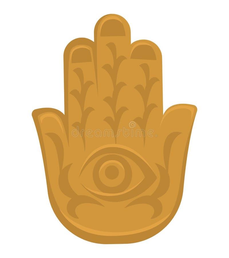 Hamsa-Handindische Kultursymbolreligion und -glaube lizenzfreie abbildung
