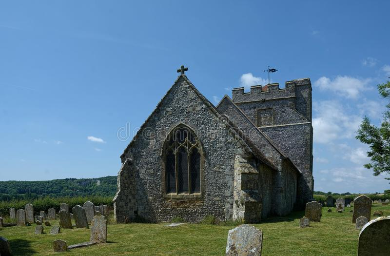 Hamsey, la chiesa di peste, vicino a Lewes, Sussex, Regno Unito immagini stock