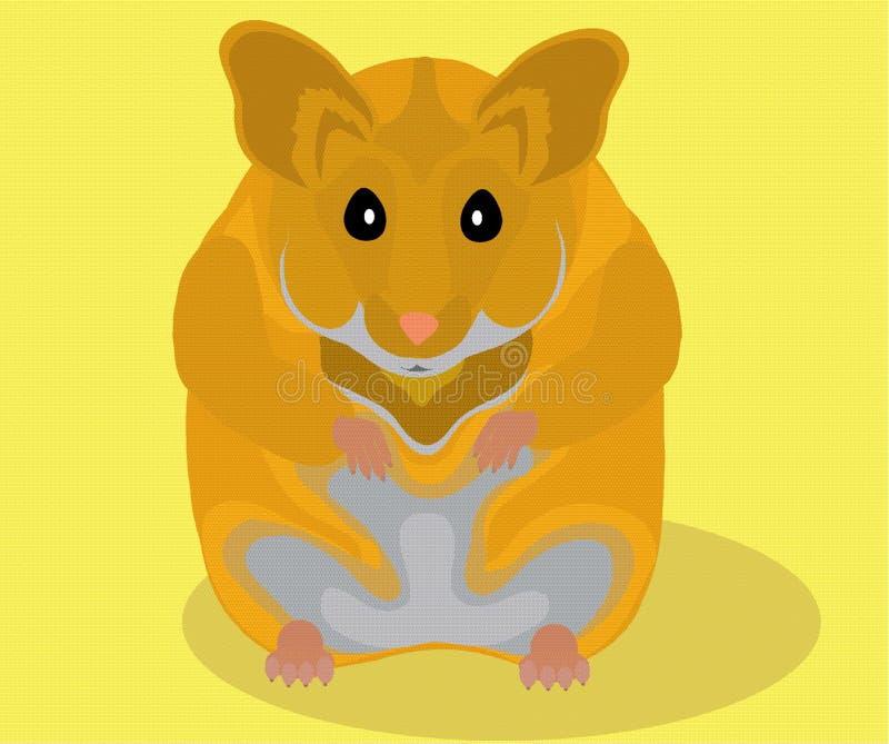 Hamster. Image of mammalian little rodent of hamster vector illustration