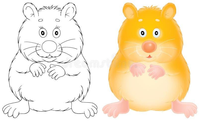 Hamster illustration de vecteur