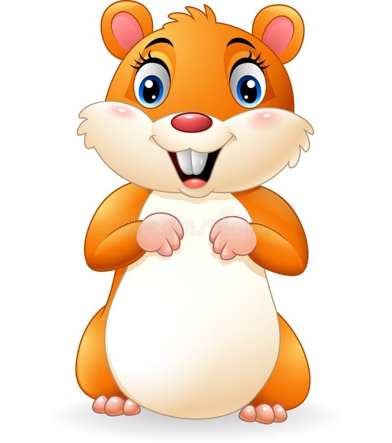 Hamster de sourire de bande dessinée illustration de vecteur