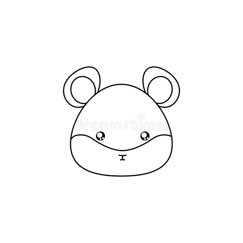 download hamster drawing face stock vector illustration of collection 86207186