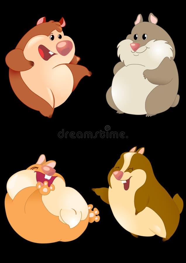 Hamster engraçados ilustração do vetor