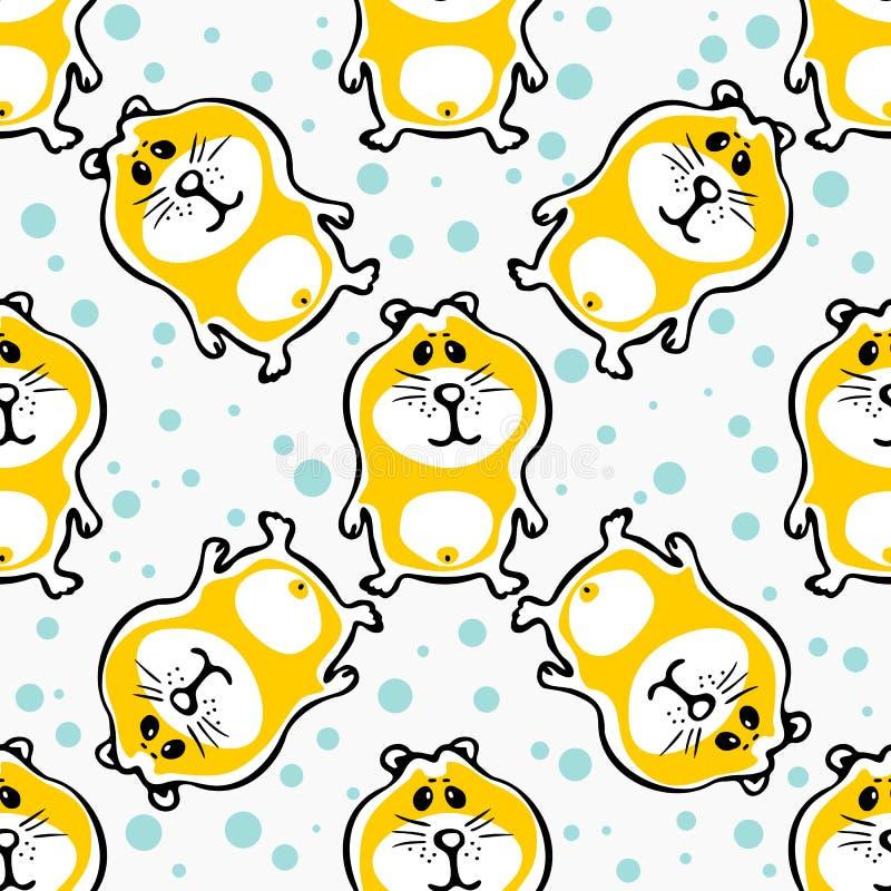 Hamster seamless pattern stock illustration