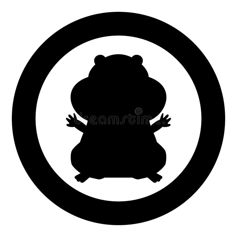 Hamster silhouette icon black color in circle. Vector illustration isolated vector illustration