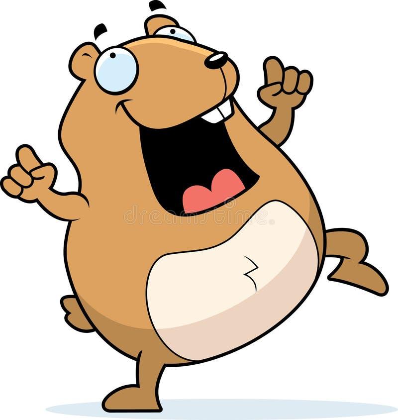 Hamster-Tanzen lizenzfreie abbildung