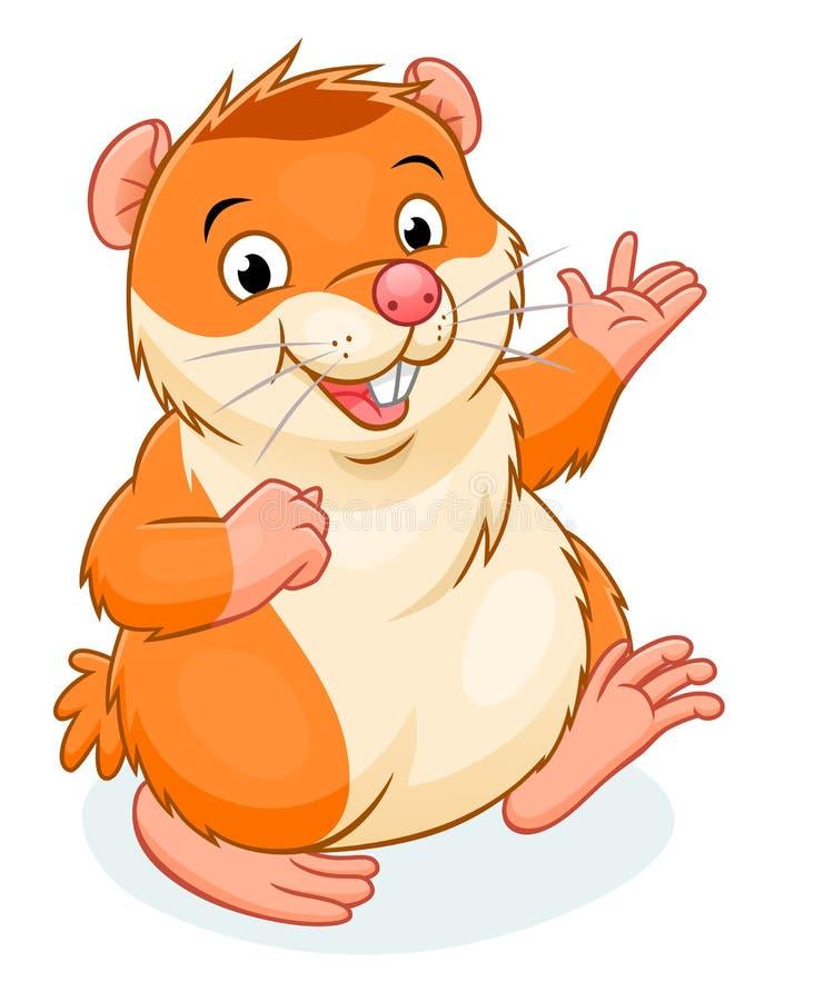 Hamster. Vector illustration of cute cartoon hamster vector illustration