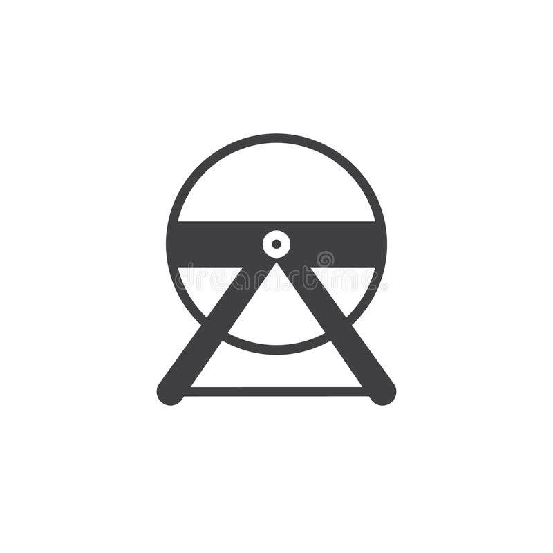 Hamster wheel icon vector. Filled flat sign, solid pictogram isolated on white. Symbol, logo illustration royalty free illustration