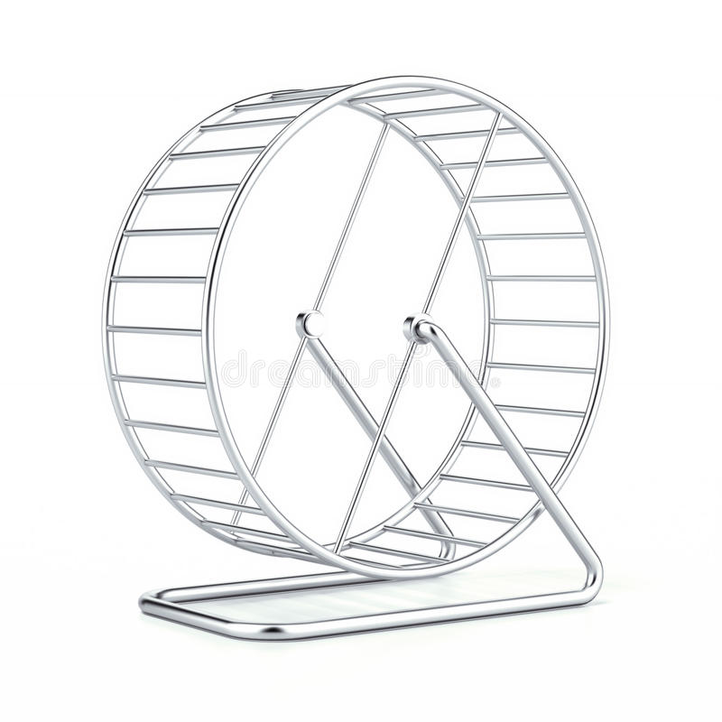 Hamster wheel. Isolated on a white background. 3d render vector illustration