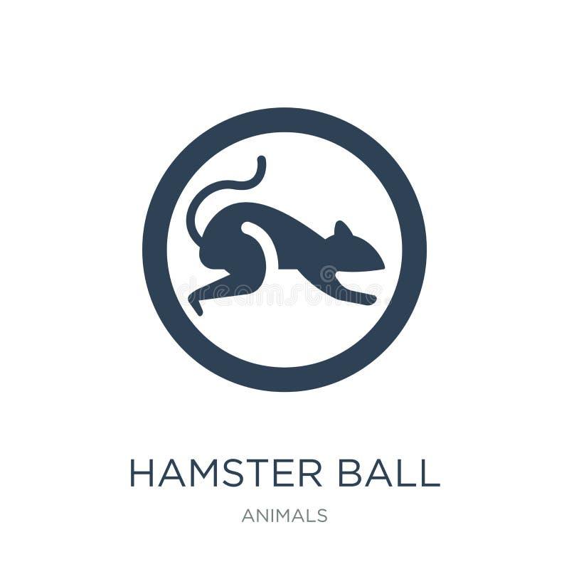 hamsterbollsymbol i moderiktig designstil hamsterbollsymbol som isoleras på vit bakgrund enkel symbol för hamsterbollvektor och stock illustrationer