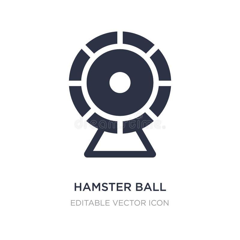 hamsterbollsymbol på vit bakgrund Enkel beståndsdelillustration från djurbegrepp stock illustrationer