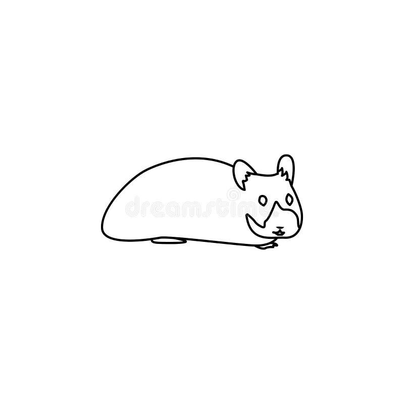 Hamsterikone Element der Nagetierikone Erstklassige Qualitätsgrafikdesignikone Baby unterzeichnet, Entwurfssymbol-Sammlungsikone  stock abbildung
