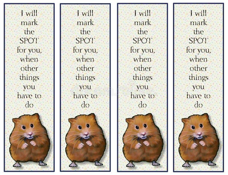 Hamsterreferenties met Vers royalty-vrije illustratie