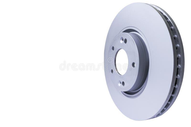 Hamulcowy dysk odizolowywający na białym tle Auto części Hamulcowy dyska rotor odizolowywający na bielu Międlenie dysk okno winke zdjęcie royalty free